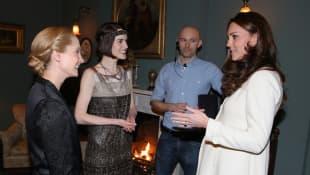 Joanne Froggat, Michelle Dockery and Duchess Catherine