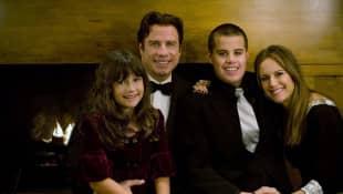 Ella Travolta, John Travolta, Kelly Preston and Jett Travolta