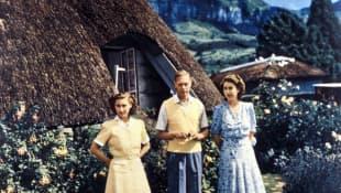 Jorge VI, la Princesa Margaret y la Reina Isabel