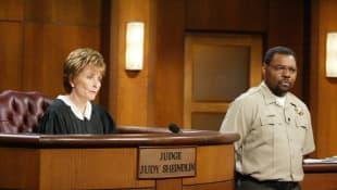 Judge Judy Sheindlin and bailiff Petri Hawkins-Byrd