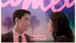 Justin Long and Emmy Rossum in 'Comet'