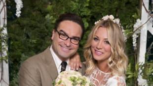 Kaley Cuoco and Johnny Galecki in 'The Big Bang Theory'