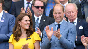 Duchess Catherine and Prince William at Wimbledon 2018
