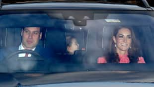 Kate and William attend the Queen's Christmas lunch at Buckingham Palace
