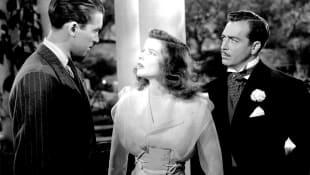 James Stewart, Katharine Hepburn, and John Howard