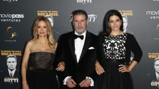 Kelly Preston, John Travolta y Ella Travolta