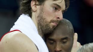 Pau Gasol and Kobe Bryant