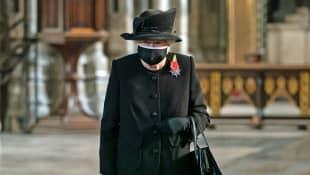 Queen Elizabeth II Remembrance Sunday mask