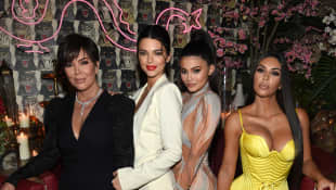 Kris Jenner, Kendall Jenner, Kylie Jenner, Founder, Kim Kardashian attends an intimate dinner hosted by The Business of Fashion on May 8, 2018 in New York City.