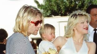 Kurt Cobain, Frances Bean Cobain, and Courtney Love