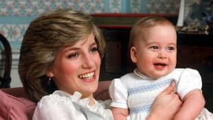 La princesa Diana y el príncipe William
