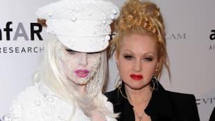 Lady Gaga and Cyndi Lauper