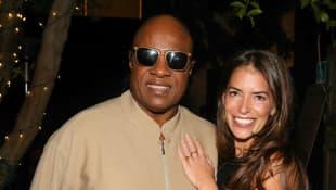 Stevie Wonder and Laura Wasser