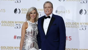 Lee Majors and his wife Faith Majors