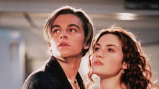 """Leonardo DiCaprio as """"Jack"""" and Kate Winslet as """"Rose"""" in 'Titanic'."""