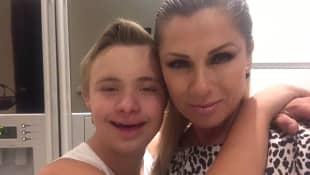 Leticia Calderón y su hijo Luciano