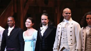 Lin-Manuel Miranda Reunites 'Hamilton' Cast To Perform With Jimmy Fallon And The Roots