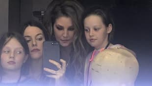 Lisa-Marie Presley with her daughters Riley Koeugh and Vivienne Ann and Finley Aaron Love Lockwood