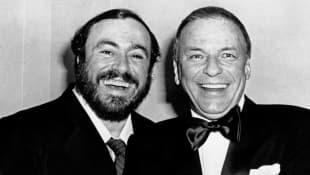 Luciano Pavarotti y Frank Sinatra