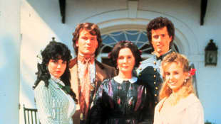 """The """"Main"""" family with """"Orry Main"""" (2nd from left) in 'North and South'."""