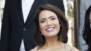 Mandy Moore attends a ceremony honouring her with a Star on The Hollywood Walk of Fame