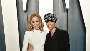 Maria Bello y Dominique Crenn