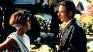 Pam Dawber and Mark Harmon in 'I'll Remember April'