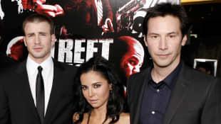 Martha Higareda, Keanu Reeves y Chris Evans