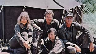 The cast of the popular show M*A*S*H, led by the brilliant Alan Alda.