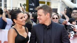 Luciana Barraso and Matt Damon