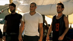 Matt Schulze, Vin Diesel and Johnny Strong