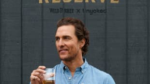 Matthew McConaughey launched an off-grid cabin he co-designed with Wild Turkey's charity initiative, With Thanks, at The Royal Botanic Gardens November 20, 2019 in Sydney, Australia.