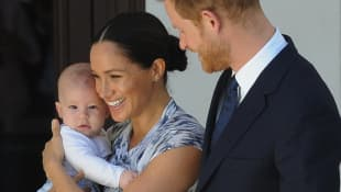 Duchess Meghan, Prince Harry and Archie