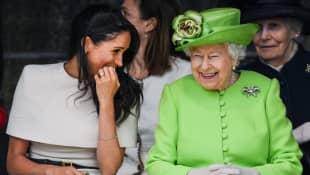 Meghan Markle and Queen Elizabeth II