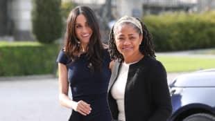 Duchess Meghan and Doria Ragland