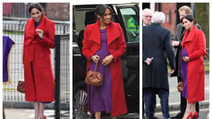Meghan looked radiant in red at her first appointment in 2019