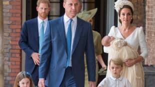 Príncipe William, el príncipe Harry y sus familias