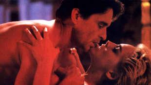 "Michael Douglas and Sharon Stone in ""Basic Instinct"""