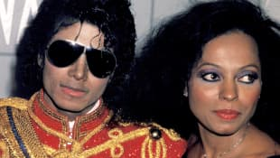The late Michael Jackson with Diana Ross at the 1984 American Music Awards.