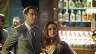 Michael Weatherly and Coté de Pablo as Ziva and Tony in NCIS