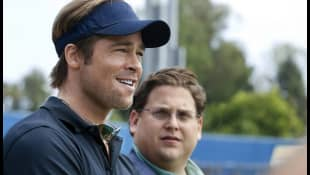 Brad Pitt and Jonah Hill in 'Moneyball'
