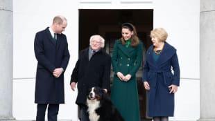 Príncipe William, Kate Middleton y la pareja presidencial de Irlanda