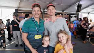 Neil Patrick Harris, David Burtka and their kids