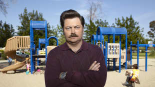"Nick Offerman como ""Ron Swanson"""