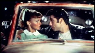 """Olivia Newton-John and John Travolta dress up as """"Sandy"""" and """"Danny"""" for first time since Grease"""