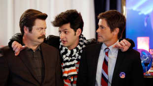 Nick Offerman, Ben Schwartz, and Rob Lowe in 'Parks and Recreation'