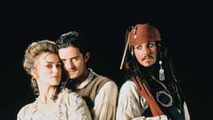 Keira Knightley, Orlando Bloom and Johnny Depp