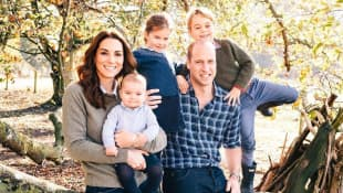 Kate Middleton y los príncipes Louis, Charlotte, William y George