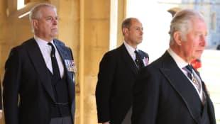 Prince Charles, Prince Edward and Prince Andrew