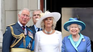Prince Charles, Duchess Camilla and Queen Elizabeth at the 2017 'Trooping the Colour' parade.
